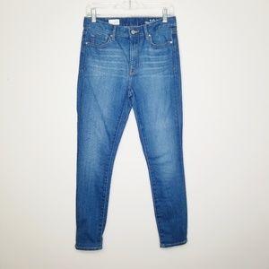 GAP | High Rise Skinny Windward Wash Jeans 27s